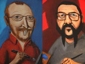 Ilan e Renato também aparecem no livro com seus retratos