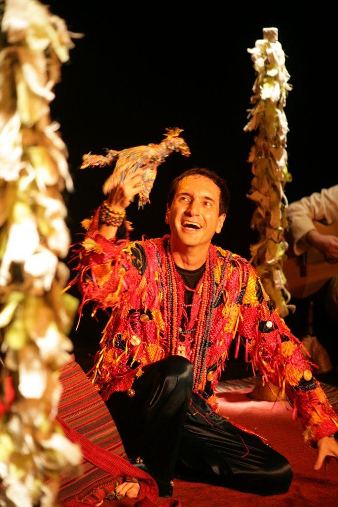 Luiz André em cena do belíssimo Meu Jardim, espetáculo que assisti com a minha filha Clarice